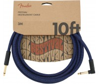 Інструментальний кабель FENDER ANGLED FESTIVAL INSTRUMENT CABLE 10' BLUE DREAM